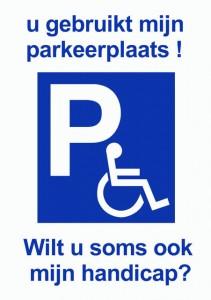 Nultolerantie voor foutparkeren op gehandicaptenplaatsen